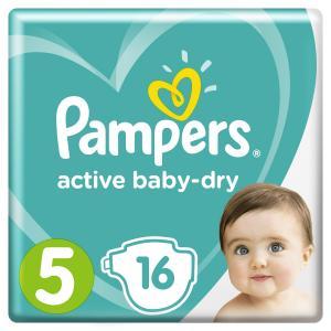 Подгузники  Active Baby-Dry Размер 5 (11-16 кг) 16 шт. Pampers