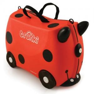 Детский чемодан на колесах Божья Коровка Harley Trunki