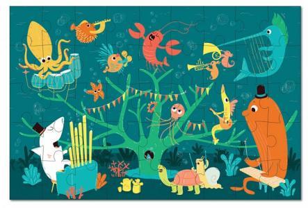 Игрушки из картона пазл Морские животные Krooom