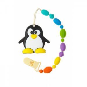 Силиконовый держатель с прорезывателем Пингвин МАМидея