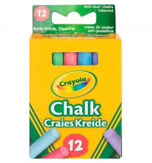 Мелки  с пониженным выделением пыли 12 шт. Crayola