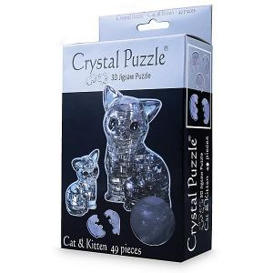 3D головоломка Кошка Черная Crystal Puzzle
