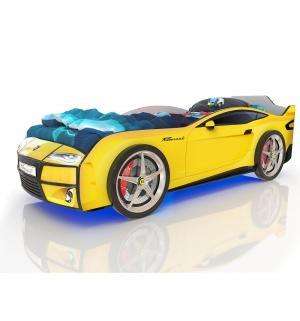 Кровать-машинка  Kiddy, цвет: желтый Romack
