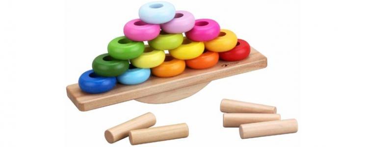 Деревянная игрушка  Развивающая Балансирующая пирамидка Classic World