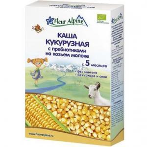 Каша  молочная Кукурузная на козьем молоке с 5 месяцев 200 г Fleur Alpine
