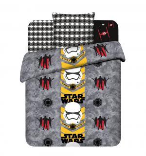 Комплект постельного белья  Звёздные войны, цвет: серый/черный Василек