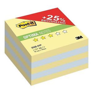 Бумага для заметок с липким слоем  Post-It Optima Осень, канареечный жёлтый, 500 листов 3M. Цвет: желтый