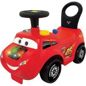 Каталка - автомобиль  Молния Маккуин Kiddieland. Цвет: красный
