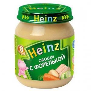 Пюре  овощи с форелью 8 месяцев, 120 г Heinz