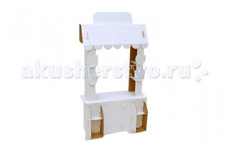Игровой домик из картона Кафе Сковородка Картонный папа