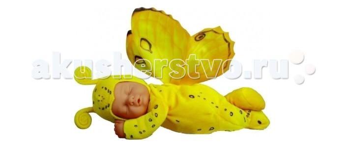 Мягкая игрушка  Детки-бабочки бело-сиреневые 17 см Unimax