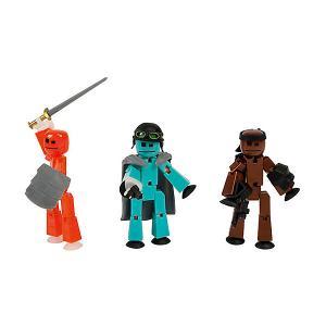 Три фигурки Stikbot Off the Grid, Striker Zing