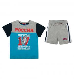 Комплект футболка/брюки  Волшебная зима, цвет: синий Pelican