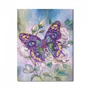 Мозаика из пайеток на холсте Бабочка МХ-15 Волшебная мастерская