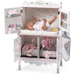 Деревянный игровой центр  с аксессуарами для куклы , серия Скай DeCuevas. Цвет: розовый/белый
