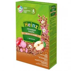 Каша  безмолочная гречневая с яблоком 4 месяцев 200 г Heinz