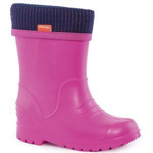 Резиновые сапоги Dino для девочки DEMAR. Цвет: розовый