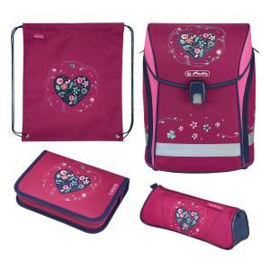 Ранец с наполнением  Heart Herlitz. Цвет: розовый