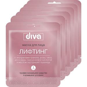 Маска для лица  на тканевой основе Diva Лифтинг, 6 шт Авангард