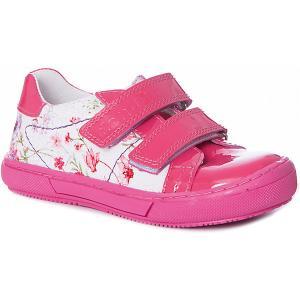 Полуботинки  для девочки Dandino. Цвет: розовый