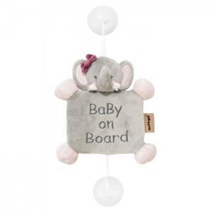 Знак Baby on board Adele & Valentine Слоник Nattou