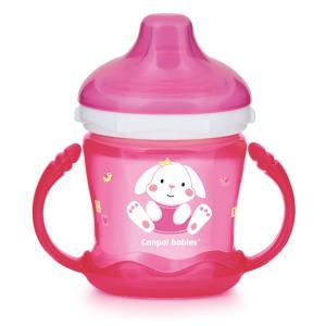 Чашка-непроливайка  Sweet Fun, цвет: розовый Canpol