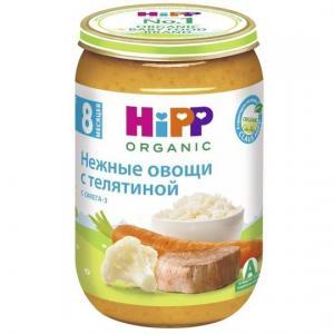 Пюре  нежные овощи с телятиной 8 месяцев, 220 г Hipp