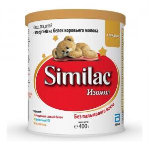 Молочная смесь  Изомил с пребиотиками 0-12 месяцев, 400 г Similac