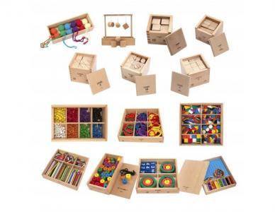 Игровой набор Монтессори Мир деревянных игрушек