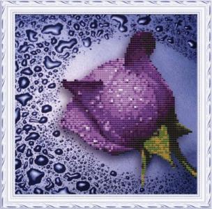 Мозаичная картина Сиреневая роза Color Kit