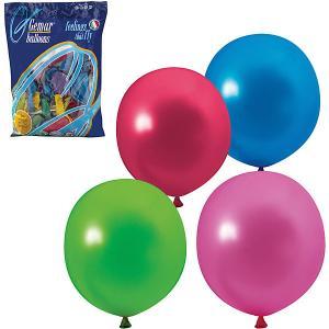 Воздушные шары Веселая затея, 100 шт, металлик Затея. Цвет: разноцветный