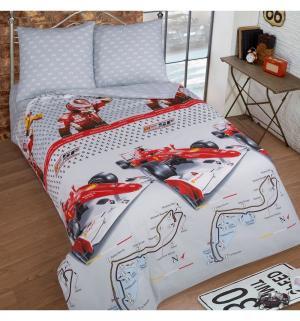 Комплект постельного белья  Экстрим, цвет: белый/красный 4 предмета Артпостель