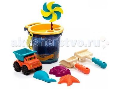 B.Summer Малое ведерко и игровой набор для песка темно-синий 9 деталей Battat