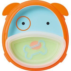 Тарелка 2 в 1  Собака Skip Hop. Цвет: синий/оранжевый