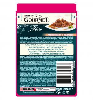 Влажный корм  Perle для взрослых собак, говядина/морковь, 85г Gourmet