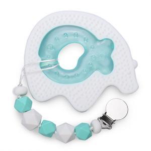 Набор прорезывателей  (силиконовый и полиэтиленовый с водой) держателем, c 4 месяцев Happy Baby