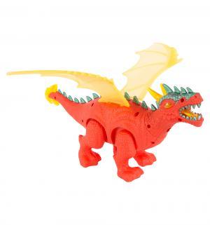 Интерактивный динозавр  цвет: оранжевый/желтый Shantou Gepai