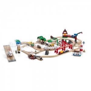 Игровой набор супер-делюкс Город с аэропортом, портом, фермой и автостанцией Brio