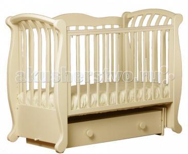 Детская кроватка  БИ 555.3 Магнолия продольный маятник Кубаньлесстрой