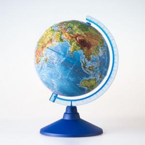 Глобус Физико-политический рельефный 25 см с подсветкой Globen