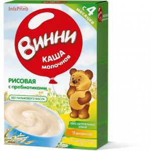 Каша  молочная Рисовая с пребиотиками 4 месяцев 200 г Винни