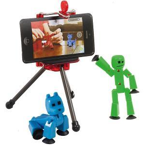 Игровой набор  Stikbot Студия с питомцем, Человечек голубой собакой Zing