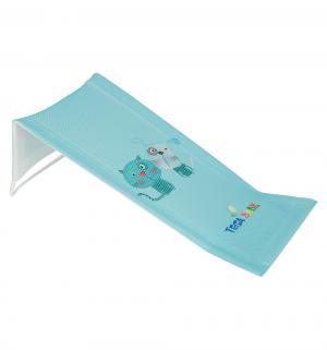 Горка для ванны  Пёс и кот, цвет: голубой Tega