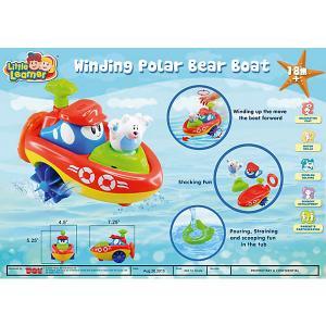 Заводная игрушка для ванны  Кораблик - Полярный медведь HAP-P-KID