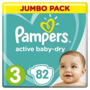 Подгузники Active Baby Midi р.3 (6-10 кг) 82 шт. Pampers