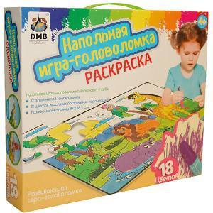 Напольный пазл-раскраска Джунгли с карандашами, 18 цветов Издательство Ди Эм Би