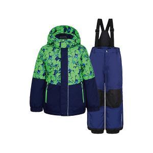 Комплект: куртка и брюки  для мальчика ICEPEAK. Цвет: зеленый