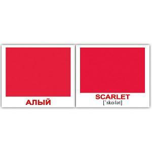 Набор обучающих мини-карточек  Colors/Цвета, двухсторонний 40 штук Вундеркинд с пелёнок