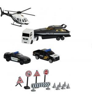 Игровой набор  Спасательные машины с дорожными знаками Majorette