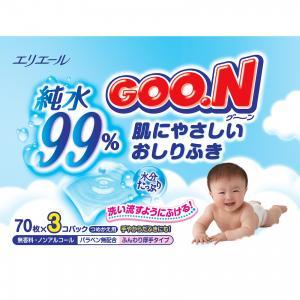 Влажные детские салфетки , 3 х 70 шт. Goon